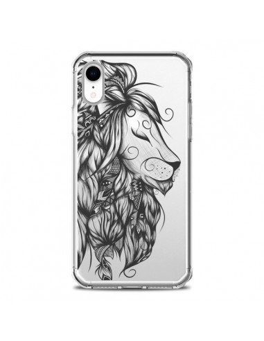 Coque iPhone XR Lion Poétique Transparente souple - LouJah