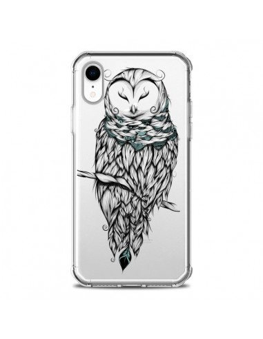 Coque iPhone XR Chouette Hiver...