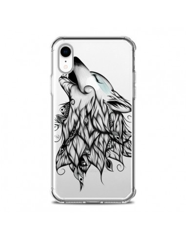 Coque iPhone XR Loup Hurlant Transparente souple - LouJah