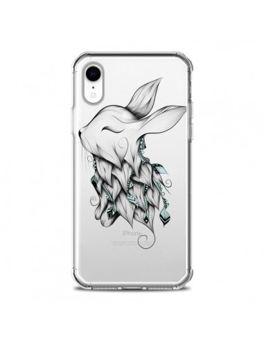 Coque iPhone XR Lapin Transparente...
