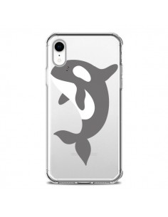 Coque iPhone XR Orque Orca Ocean Transparente souple - Petit Griffin