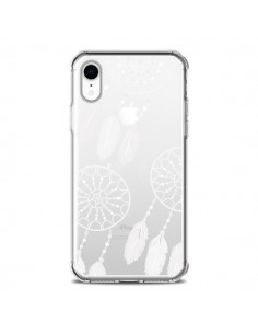 Coque iPhone XR Attrape Rêves Blanc Dreamcatcher Triple Transparente souple - Petit Griffin