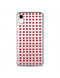 Coque iPhone XR Coeurs Heart Love Amour Red Transparente souple - Petit Griffin