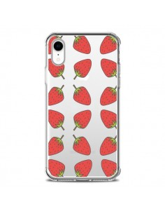 Coque iPhone XR Fraise Fruit Strawberry Transparente souple - Petit Griffin