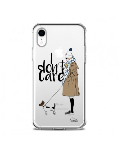 Coque iPhone XR I don't care Fille...