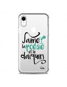 Coque iPhone XR J'aime la poésie et le daiquiri Transparente souple - Lolo Santo