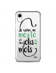 Coque iPhone XR Je veux un mojito et des jolis mots Transparente souple - Lolo Santo