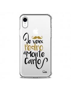 Coque iPhone XR Je veux Pedro à Monte Carlo Transparente souple - Lolo Santo