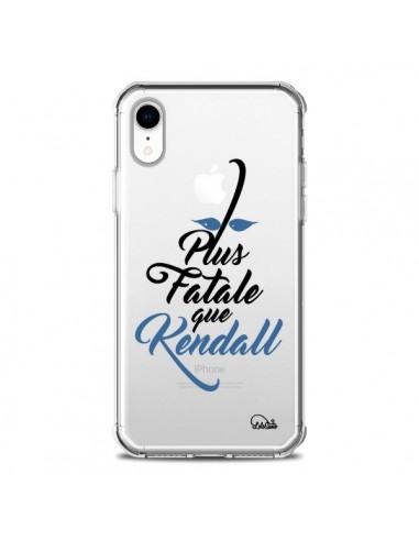Coque iPhone XR Plus Fatale que Kendall Transparente souple - Lolo Santo