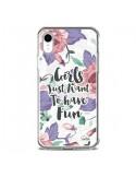 Coque iPhone XR Girls Fun Transparente souple - Lolo Santo