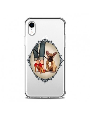 Coque iPhone XR Lady Jambes Chien Bulldog Dog Transparente souple - Maryline Cazenave