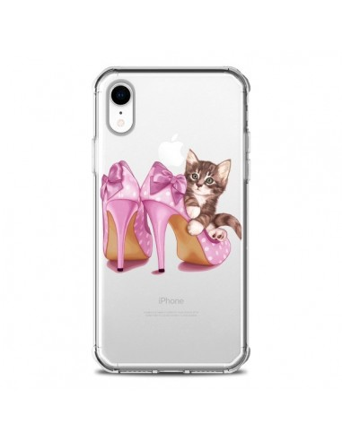 Coque iPhone XR Chaton Chat Kitten Chaussures Shoes Transparente souple - Maryline Cazenave