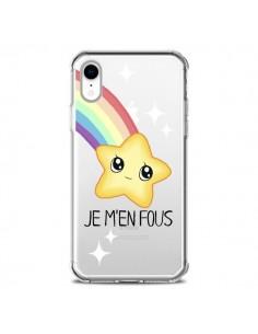 Coque iPhone XR Etoile Je M'en Fous Transparente souple - Maryline Cazenave