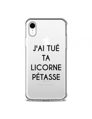 coque iphone xr licorne transparente
