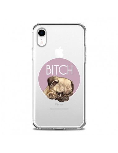 Coque iPhone XR Bulldog Bitch Transparente souple - Maryline Cazenave