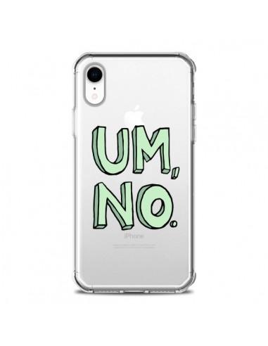 Coque iPhone XR Um, No Transparente souple - Maryline Cazenave