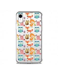 Coque iPhone XR Renard Ecureuil Lapin Hibou Transparente souple - Maria Jose Da Luz