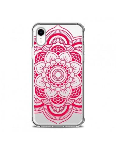 Coque iPhone XR Mandala Rose Fushia...