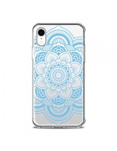 Coque iPhone XR Mandala Bleu Azteque...