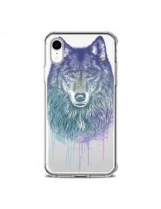 Coque iPhone XR Loup Wolf Animal Transparente souple - Rachel Caldwell