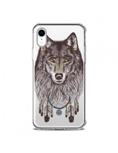 Coque iPhone XR Loup Wolf Attrape...