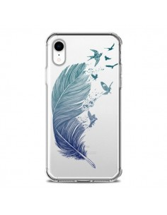 Coque iPhone XR Plume Feather Fly Away Transparente souple - Rachel Caldwell