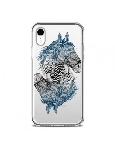 Coque iPhone XR Cheval Horse Double...
