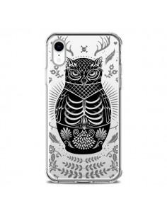 Coque iPhone XR Owl Chouette Hibou Squelette Transparente souple - Rachel Caldwell