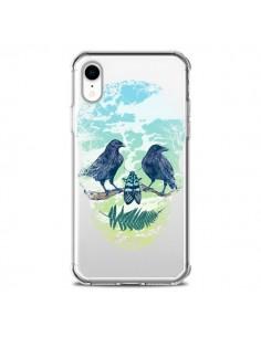 Coque iPhone XR Tête de Mort Nature Transparente souple - Rachel Caldwell