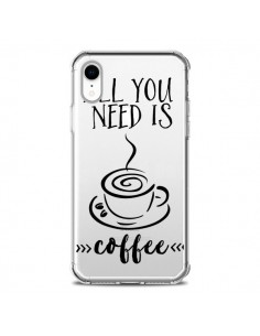 Coque iPhone XR All you need is coffee Transparente souple - Sylvia Cook