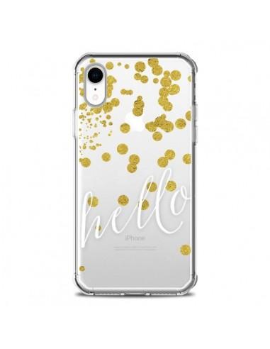 Coque iPhone XR Hello, Bonjour...