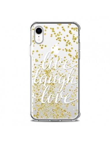 Coque iPhone XR Live, Laugh, Love,...