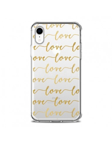 Coque iPhone XR Love Amour Repeating Transparente souple - Sylvia Cook