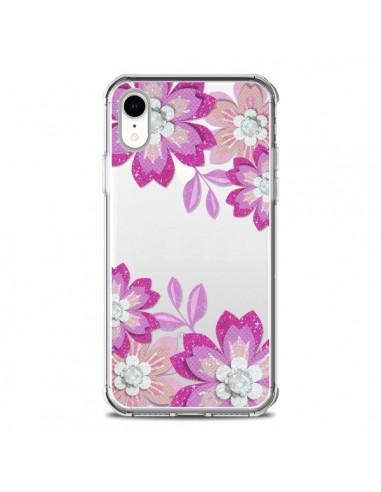 Coque iPhone XR Winter Flower Rose,...
