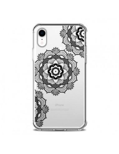 Coque iPhone XR Triple Mandala Noir...