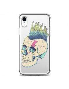 Coque iPhone XR Tête de Mort Crane Punk Transparente souple - Victor Vercesi