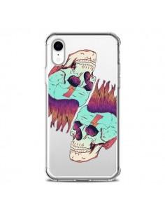Coque iPhone XR Tête de Mort Crane Punk Double Transparente souple - Victor Vercesi