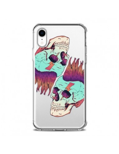 Coque iPhone XR Tête de Mort Crane Punk Double Transparente souple - Victor Vercesi