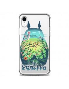 Coque iPhone XR Totoro Manga Flower Transparente souple - Victor Vercesi