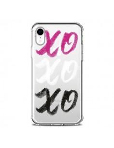 Coque iPhone XR XoXo Rose Blanc Noir Transparente souple - Yohan B.