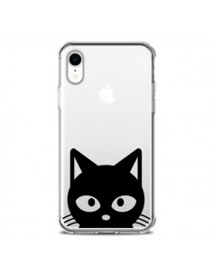 Coque iPhone XR Tête Chat Noir Cat Transparente souple - Yohan B.