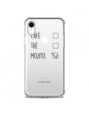 Coque iPhone XR Café, Thé et Mojito Transparente souple - Les Vilaines Filles
