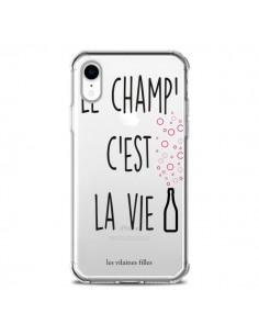 Coque iPhone XR Le Champ, c'est la Vie Transparente souple - Les Vilaines Filles