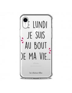Coque iPhone XR Le lundi, je suis au bout de ma vie Transparente souple - Les Vilaines Filles