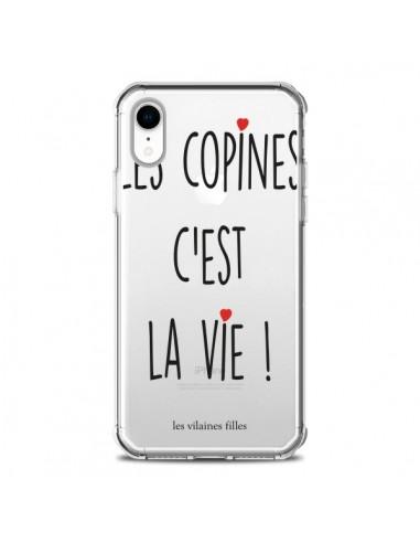 Coque iPhone XR Les copines, c'est la vie Transparente souple - Les Vilaines Filles