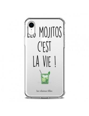 Coque iPhone XR Les Mojitos, c'est la vie Transparente souple - Les Vilaines Filles