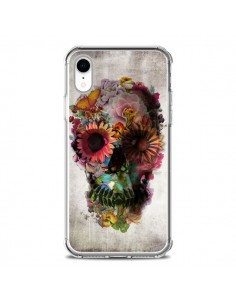 Coque iPhone XR Skull Flower Tête de Mort - Ali Gulec