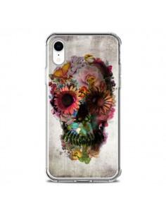 Coque iPhone XR Skull Flower Tête de Mort - Ali Gulec