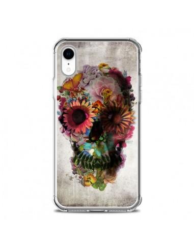 Coque iPhone XR Skull Flower Tête de...