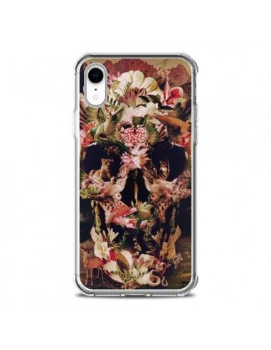 Coque iPhone XR Jungle Skull Tête de...